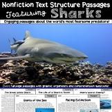 Nonfiction Text Structure Passages: Sharks!