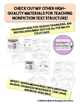 Nonfiction Text Structure Signal Words Reference Page