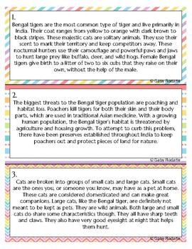 Nonfiction Text Structure Task Cards