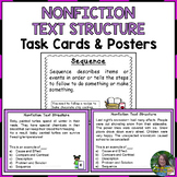 Nonfiction Text Structure Task Cards and Posters for 3rd Grade