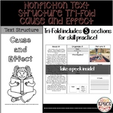 Nonfiction Text Structure Tri-Fold: Cause and Effect