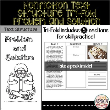 Nonfiction Text Structure Tri-Fold: Problem and Solution