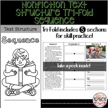 Nonfiction Text Structure Tri-Fold: Sequence