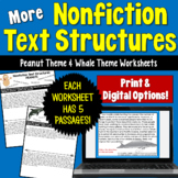 Informational Text Structures- Two Worksheets