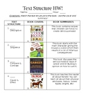 Nonfiction Text Structure Worksheet
