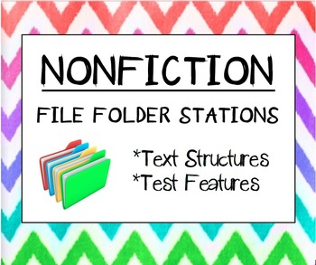 Nonfiction Text Structure and Text Feature Classroom Stations