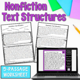 Informational Text Structure worksheet
