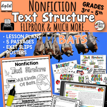 Distance Learning Digital Text Structures Reading Passages 3rd 4th 5th NTI
