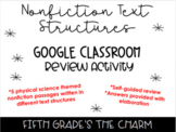 Nonfiction Text Structures 5th Grade Physical Science NGSS Google Slides Review
