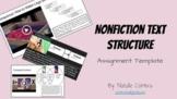 Nonfiction Text Structures Assignment - Google Slides Template