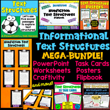 If you are looking for resources to teach your students about nonfiction text structures, be sure to check out this bundle. It is filled with engaging activities!