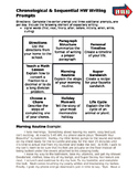 Nonfiction Text Structures: Chronological/Sequential Writi