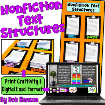 Informational Text Structures Craftivity (featuring 20 passages!!)