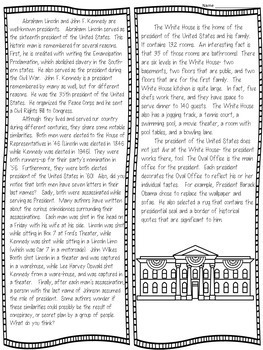 Nonfiction Text Structures Craftivity (presidential passages!)