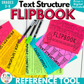 Nonfiction Text Structure Flipbook Activity