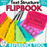Nonfiction Text Structure Flipbook Activity | Printable & Digital Versions