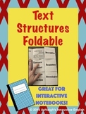 Nonfiction Text Structures Foldable for Interactive Notebooks