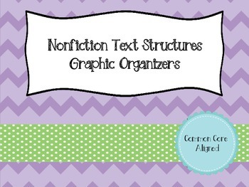 Nonfiction Text Structures Graphic Organizers - Common Core Aligned