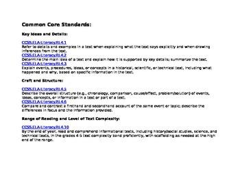 Nonfiction Text Structures Guide
