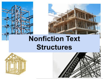 Nonfiction Text Structures Lesson and Materials, Including Video Lesson and PPT