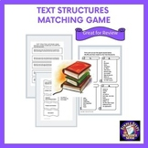Nonfiction Text Structures Matching Game