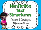 Nonfiction Text Structures Posters and Reference Rings