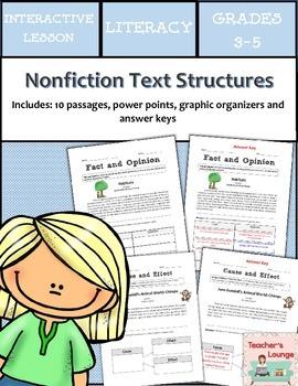 Nonfiction Text Structures Reading Bundle