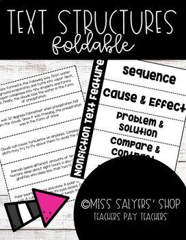 Nonfiction Text Structures Flipbook