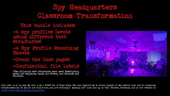 Nonfiction Text Structures Spy Transformation