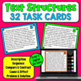 Text Structure Task Cards | PDF and Digital | Distance Learning