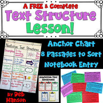 Nonfiction Text Structures: Three FREE Activities