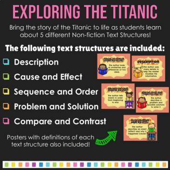 Nonfiction Text Structures Titanic Reading Unit