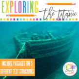 Nonfiction Text Structures Titanic Reading Unit