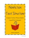 Nonfiction Text Structures Worksheet