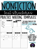 Nonfiction Text Structures Writing Templates