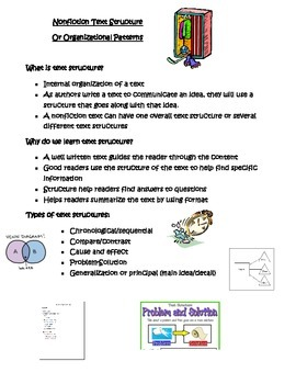 Nonfiction Text Structures and Organizational Patterns