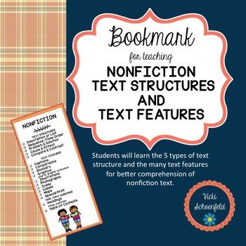 Nonfiction text structures assessment teaching resources teachers nonfiction text structures and text features bookmark nonfiction text structures and text features bookmark stopboris Images