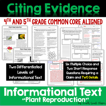 "Citing Evidence: Informational Text Dependent Questions ""Plant Reproduction"""
