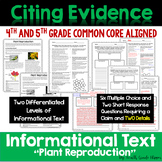 """Citing Evidence: Informational Text Dependent Questions """"P"""