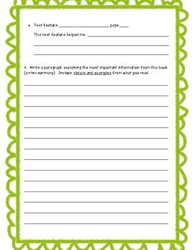 Nonfiction Text Worksheet
