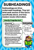 Reading Nonfiction Text and Graphic Features Poster Set -