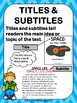 Nonfiction Text and Graphic Features Poster Set - SPACE Theme