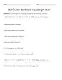 Nonfiction Textbook Scavenger Hunt- Great for Beginning of