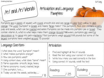 Nonfiction Texts Targeting Articulation and Language {Fall Edition}
