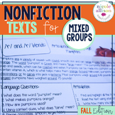 Nonfiction Texts Targeting Articulation and Language {Fall