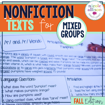 Nonfiction Texts Targeting Articulation & Language {Fall Edition}