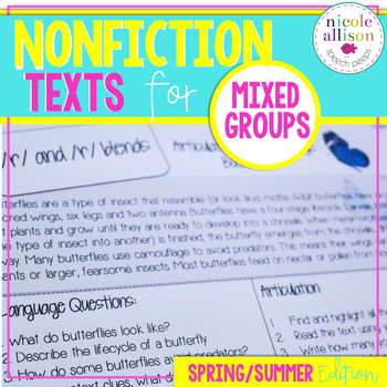 Nonfiction Texts Targeting Articulation & Language {Spring