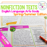 Nonfiction Texts with English Language Arts Targets {Spring Summer Edition}