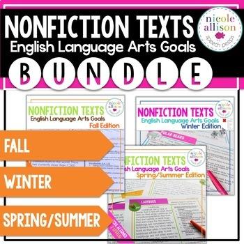 Nonfiction Texts with English Language Arts Targets BUNDLE