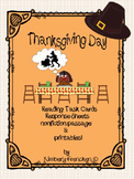 Nonfiction Thanksgiving Reading Task Cards & Passages with Printables